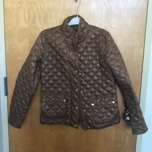 Jcrew quilted snap up coat